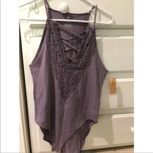 Purple body suit American eagle